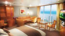 Penthouse suite con balcón