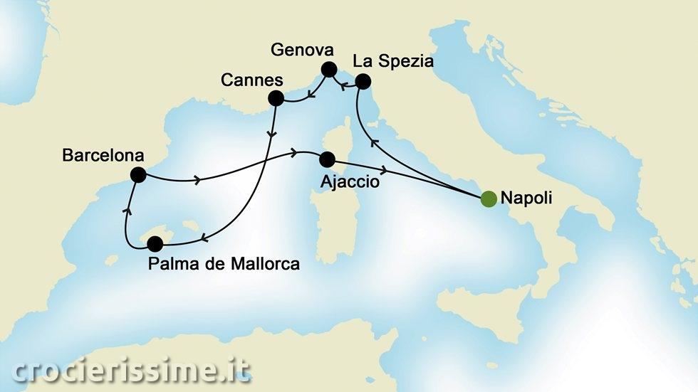 MEDITERRANEO OCCIDENTALE da Napoli
