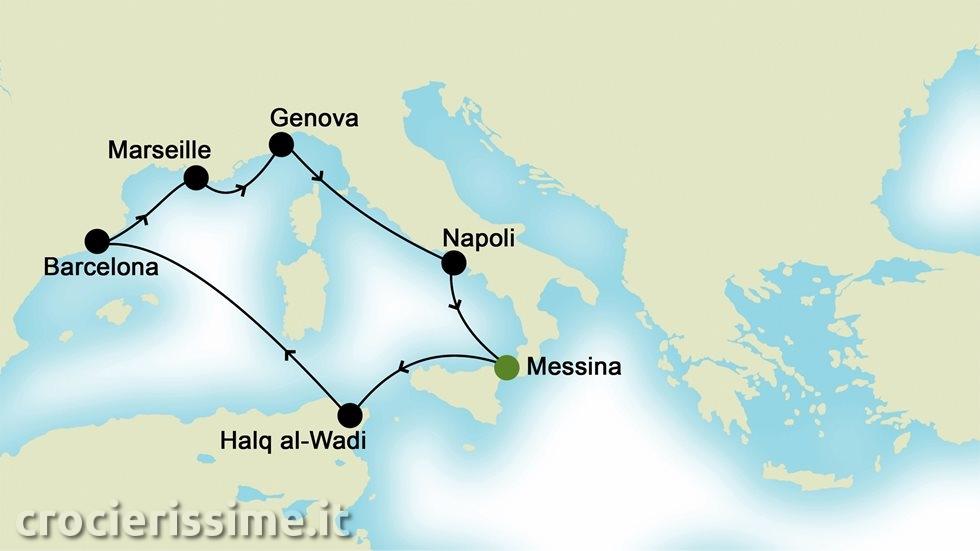 MEDITERRANEO OCCIDENTALE da Messina
