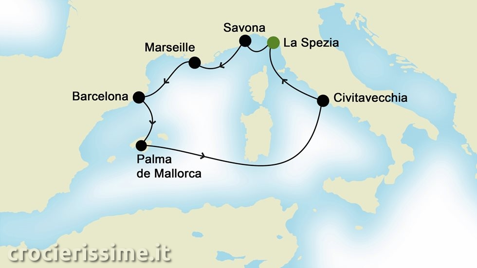 MEDITERRANEO OCCIDENTALE da La Spezia