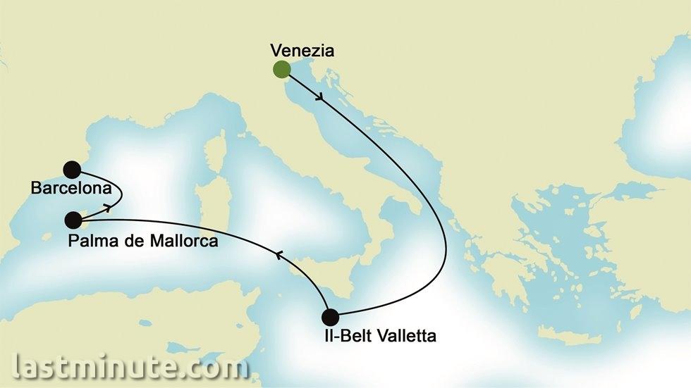 MEDITERRANEE D EST A OUEST au départ de Venise