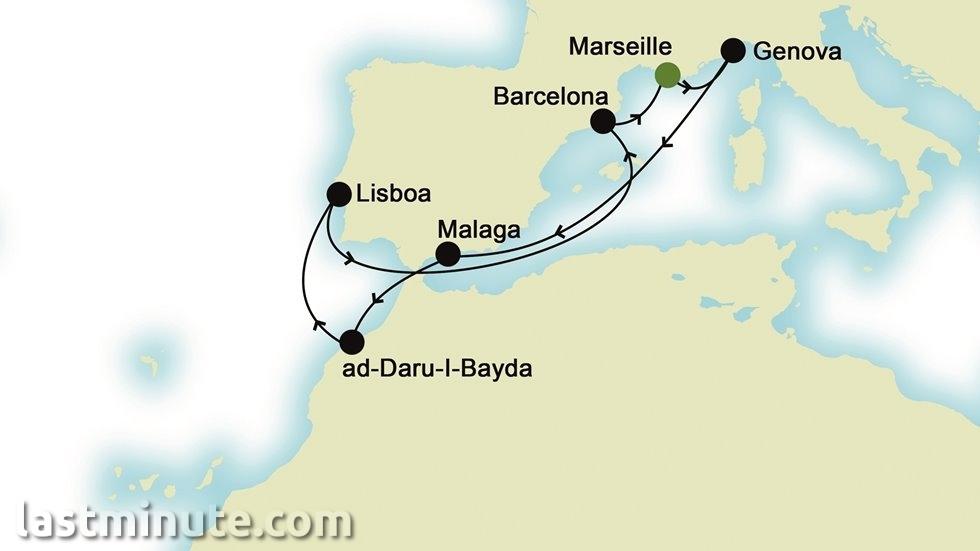 MÉDITERRANÉE au départ de Marseille