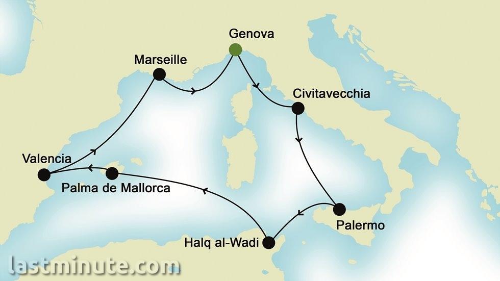 MÉDITERRANÉE OCCIDENTALE au départ de Gênes