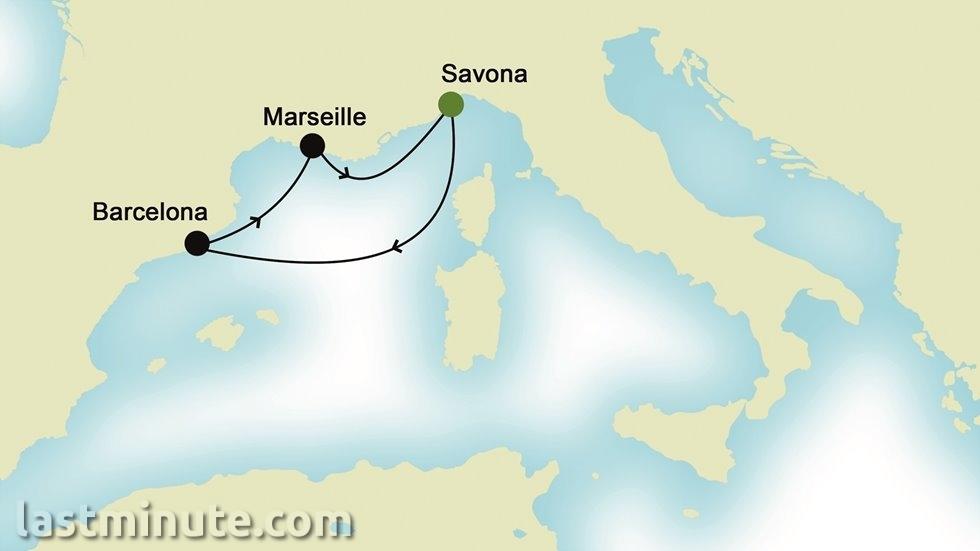MEDITERRANEE D EST A OUEST au départ de Nice