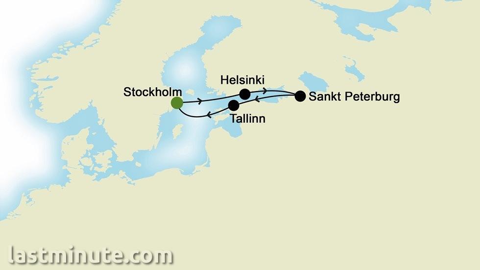 CAPITALES DE LA BALTIQUE au départ de Stockholm