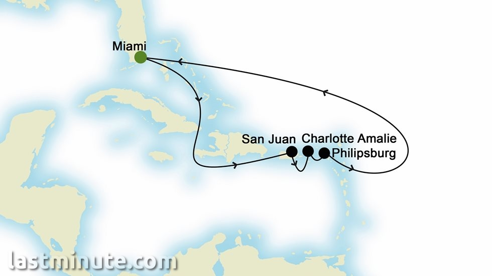 ÎLES CARIBÉENNES au départ de Miami